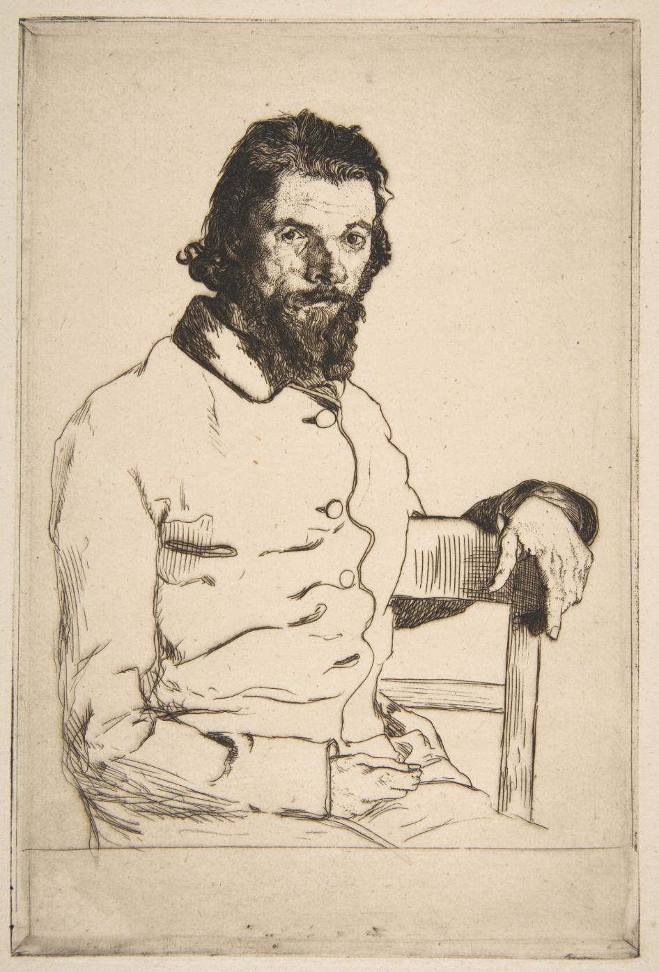 Portrait of Charles Meryon,  1853, Félix Henri Bracquemond,