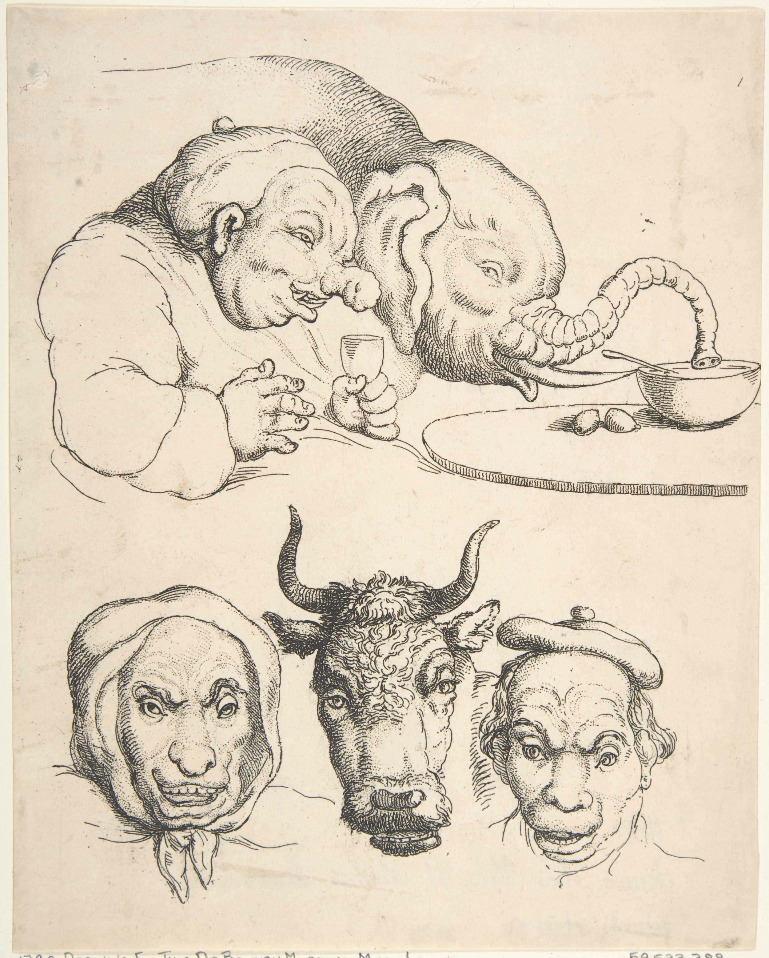 Comparative Antomy , 1800-'25, Thomas Rowlandson