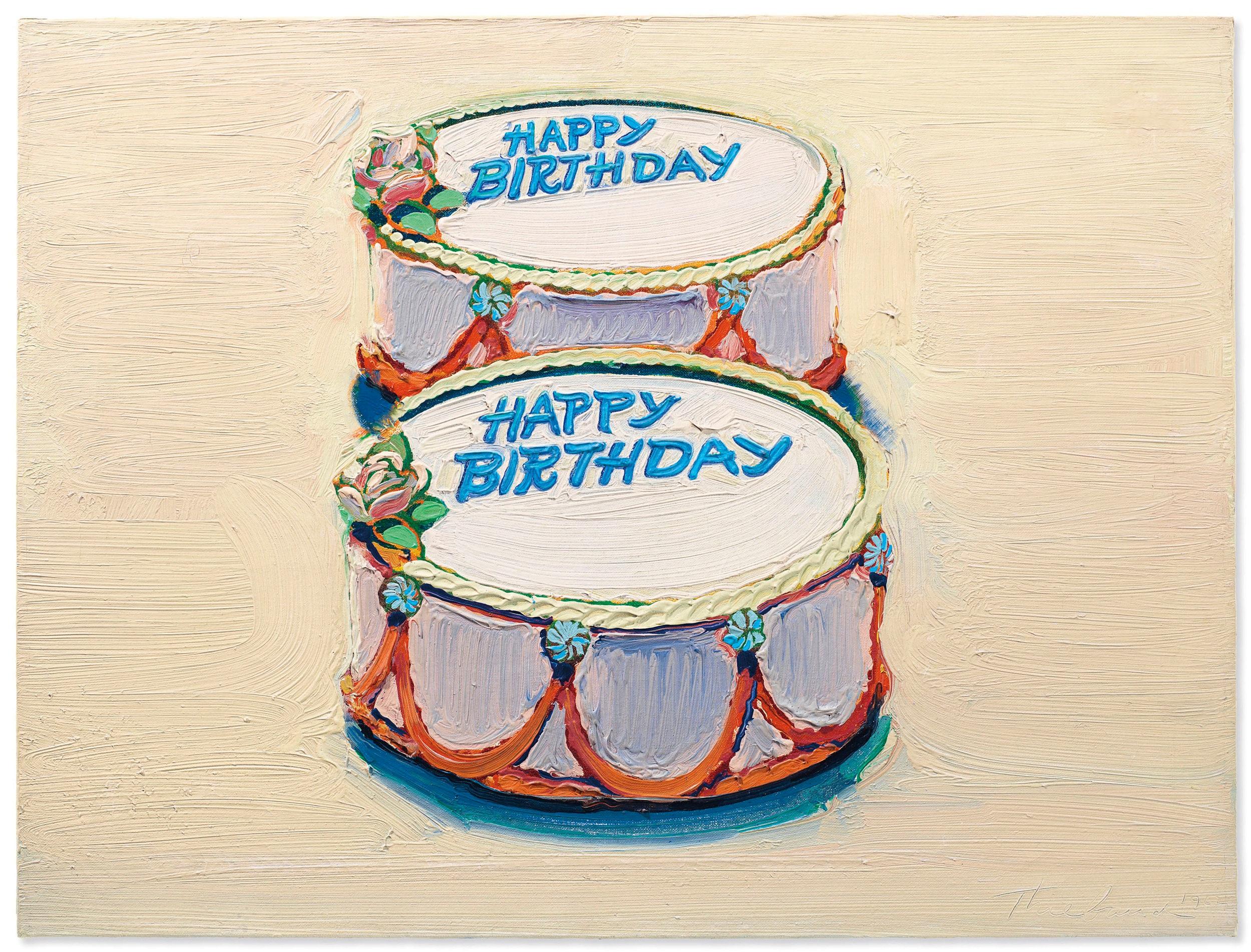 Wayne Thiebaud,  Happy Birthday,  1962