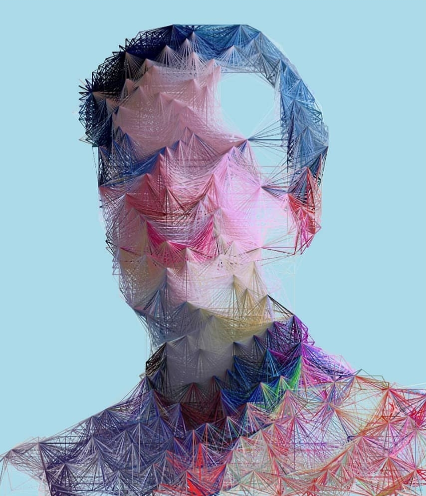 Original logo project image that spawned Espen Kluge's current portrait series