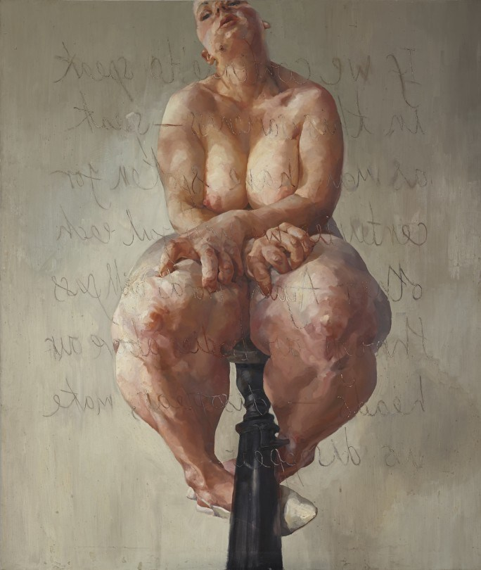 Jenny Saville,  Propped  (1992) Sold for $12.4 million