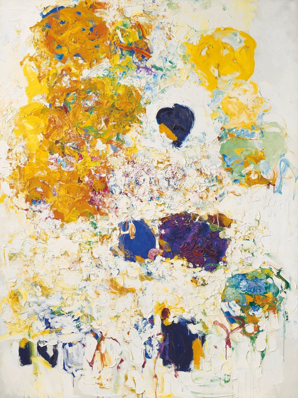 Joan Mitchell,  Blueberry  (1969-70) set a $16.6m record for the artist at Christie's New York last year.