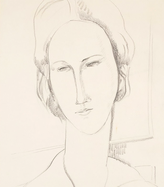 Portrait of a Woman,  by the Modigliani forger Elmyr de Hory, circa 1974