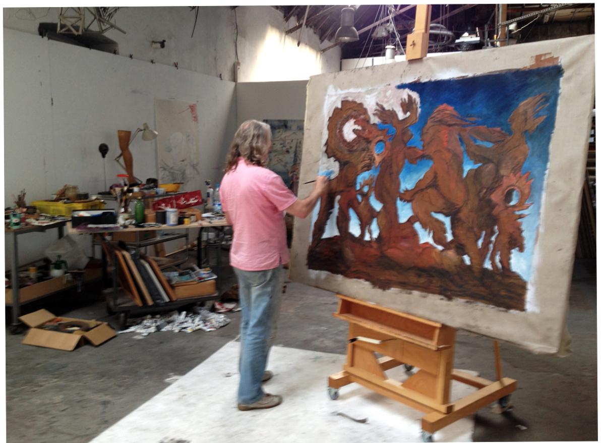 Wolfgang Beltracchi in studio