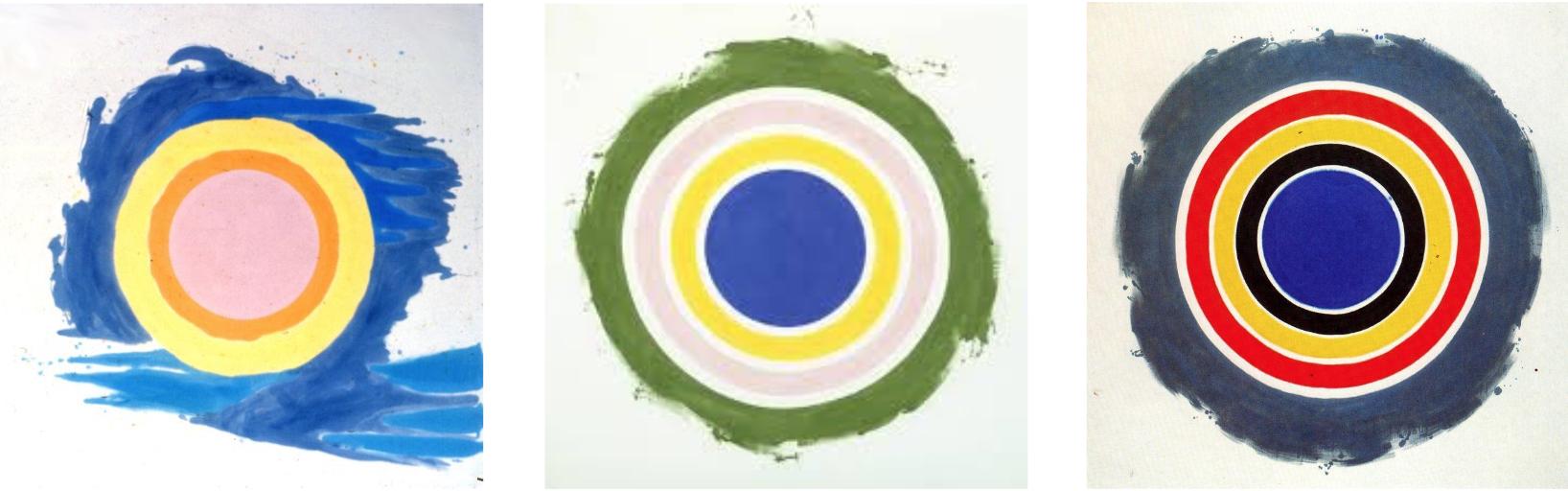 Three works from Ken Noland's Target Series