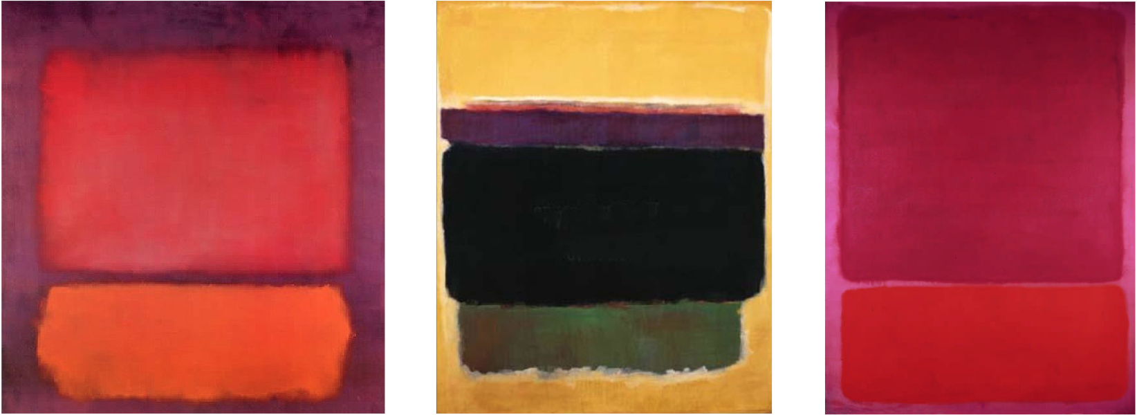 Examples of abstract paintings by Mark Rothko