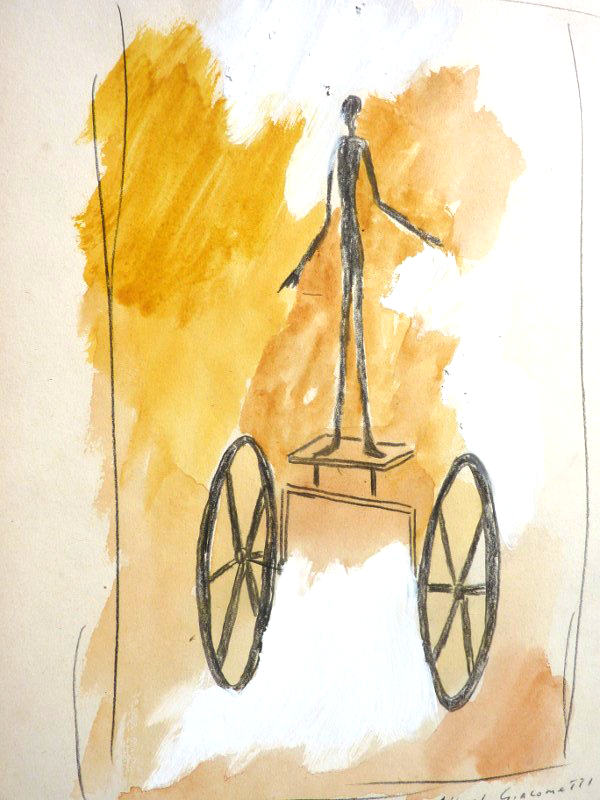Forgery of a Giacometti drawing by Robert J.C. Driessen