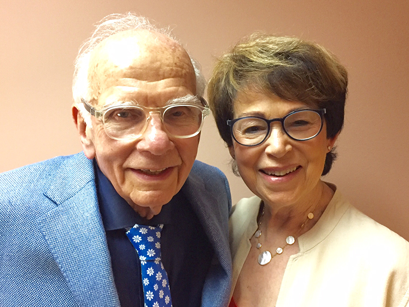 The founding donors of the Mel Bornstein Clinic, Dr. Melvin Bornstein and Mrs. Audrey Bornstein.