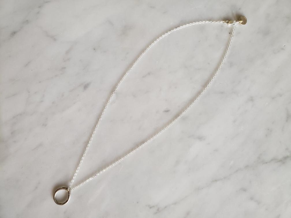 Elida Designs Tear Drop Necklace in Silver