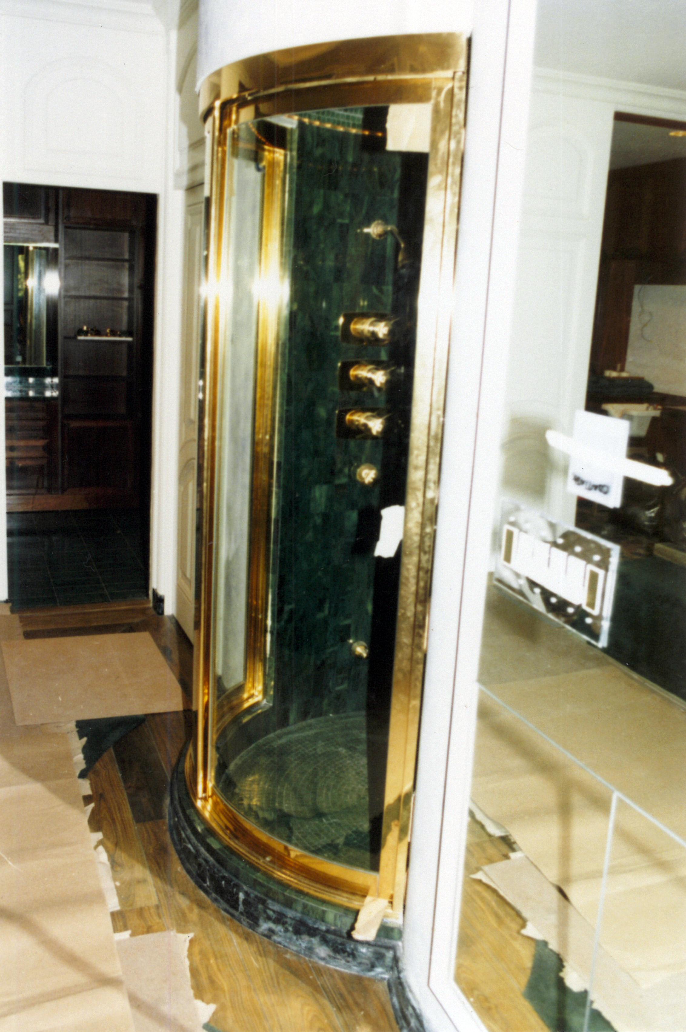 Brass-Gold Plated Shower Door