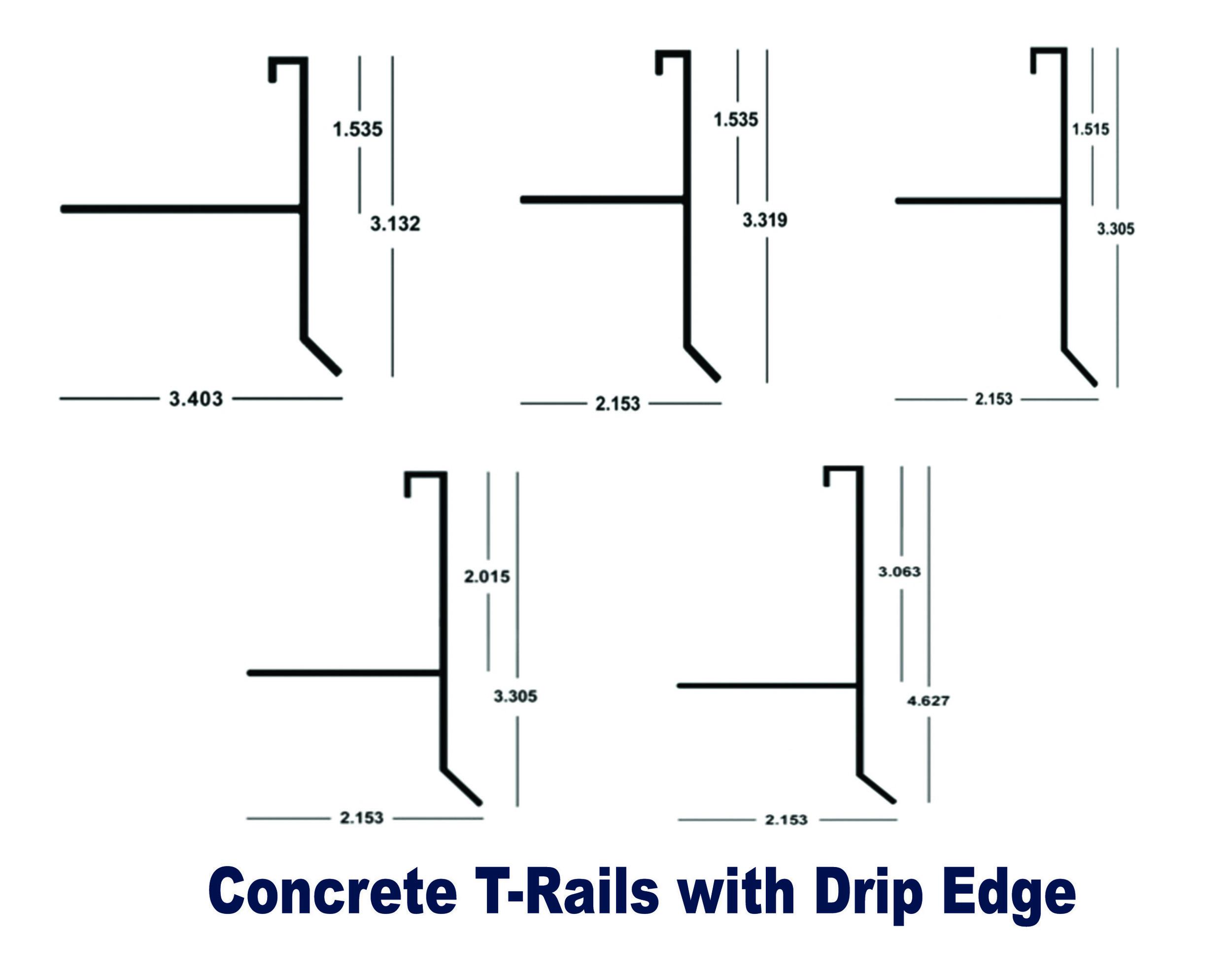 """Concrete """"T"""" Rails"""