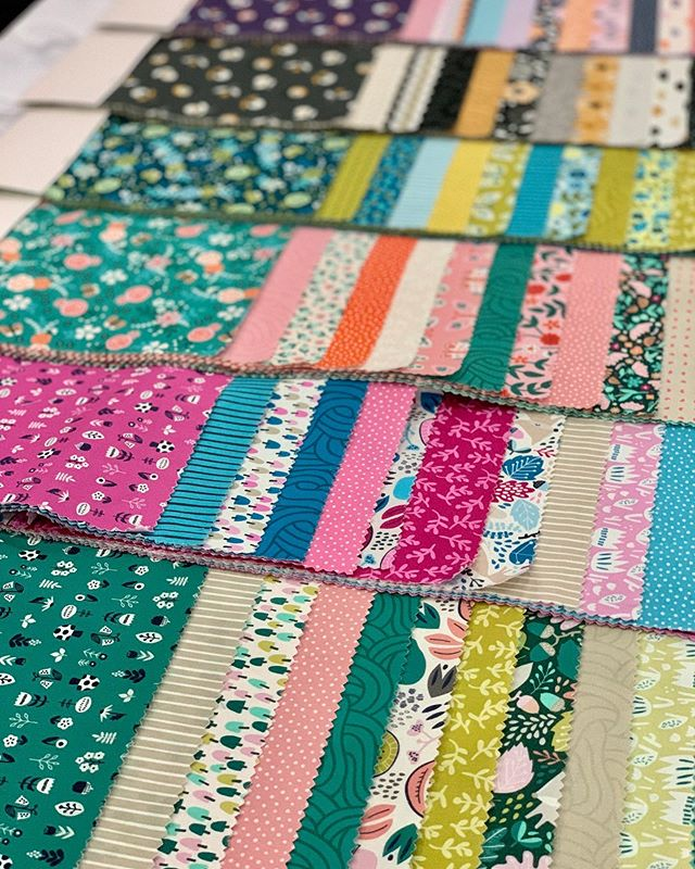 All of our pretties on display. Stay tuned as we introduce them each and get to meet the designers. #thejoyoffabric
