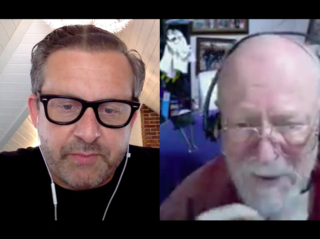 Joe Krebs (left) and Jerry Weinberg (right) during the Agile.FM Podcast
