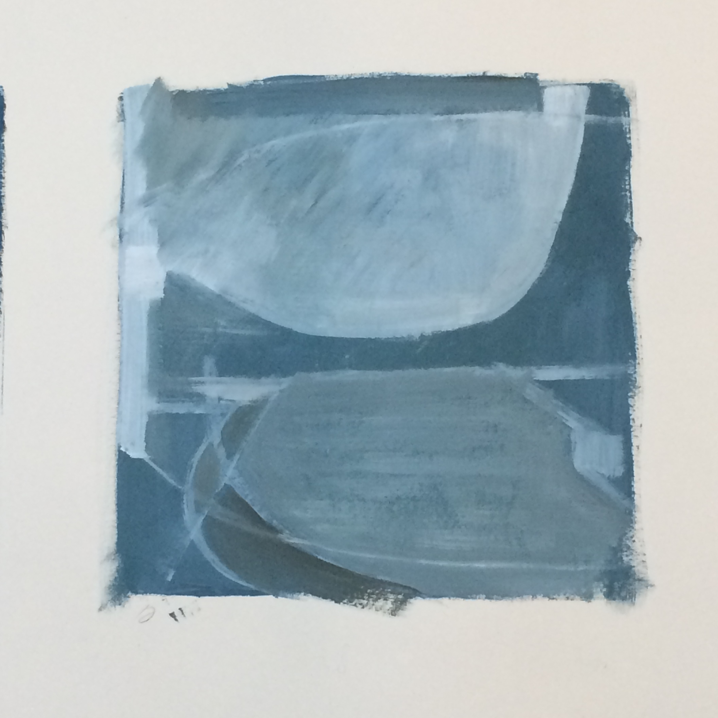 Latest series - Working on the Marine lake series looking at the structure, air and light as a source of frustration! Using a roll of lining paper and letting one idea jump into another is very exciting and will no doubt spark even more investigations.