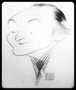 Leo Shull. Sketch by Al Hirschfeld.