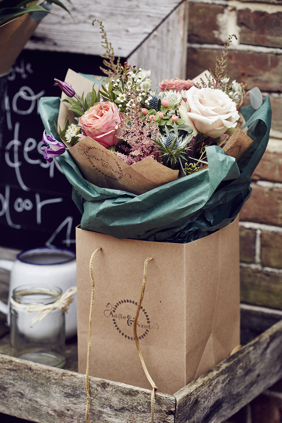 Hand-tied gift bouquets from £30.00  Photography by Alun Callendar