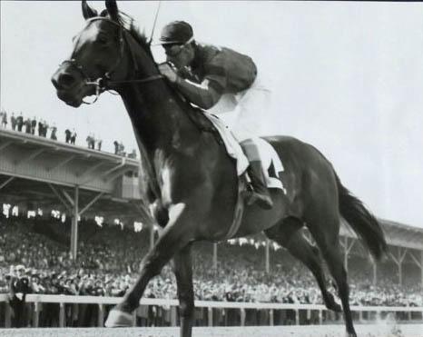 Citation and Eddie Arcaro-Preakness Stakes - @Calumet Farm Bourbon Whiskey