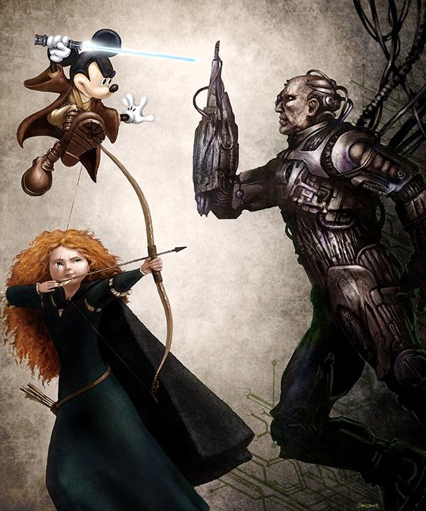 Jedi Mickey & Merida vs Borg