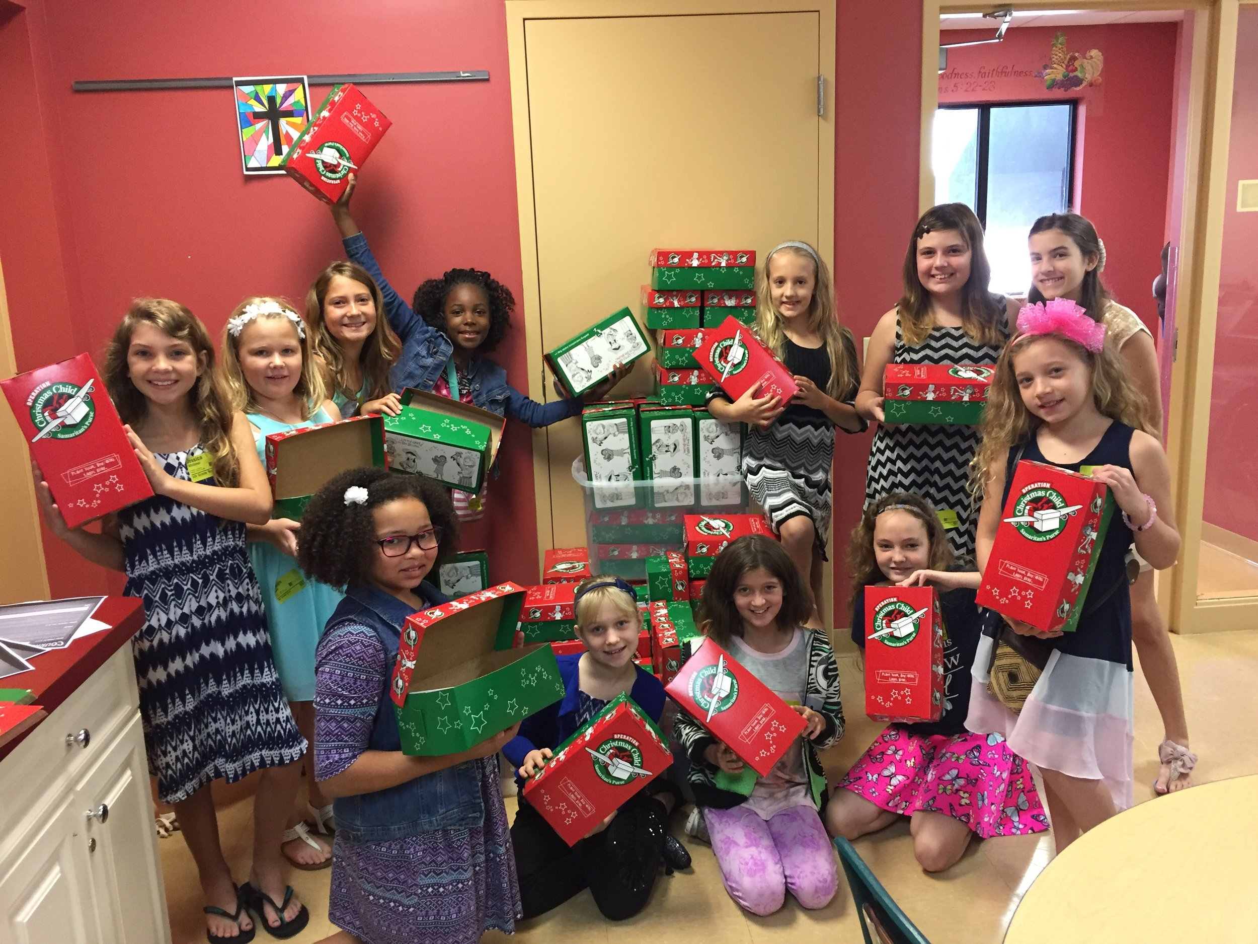 OPERATION CHRISTMAS CHILD SHOEBOXES - NOV. 12 - Operation Christmas Child Shoeboxes aredue back this day on the plaza. Thank you forparticipating this year!
