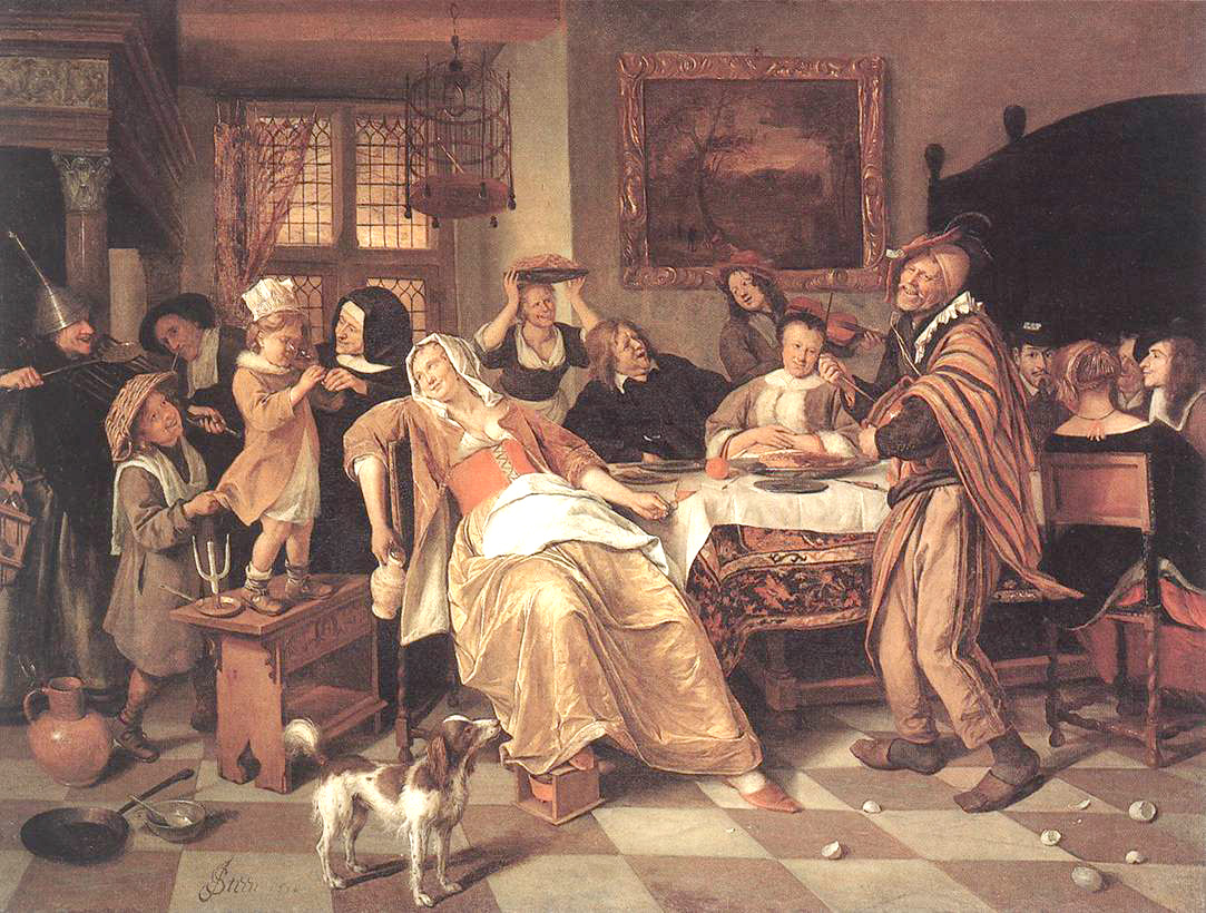 The Bean Feast by Jan Steen