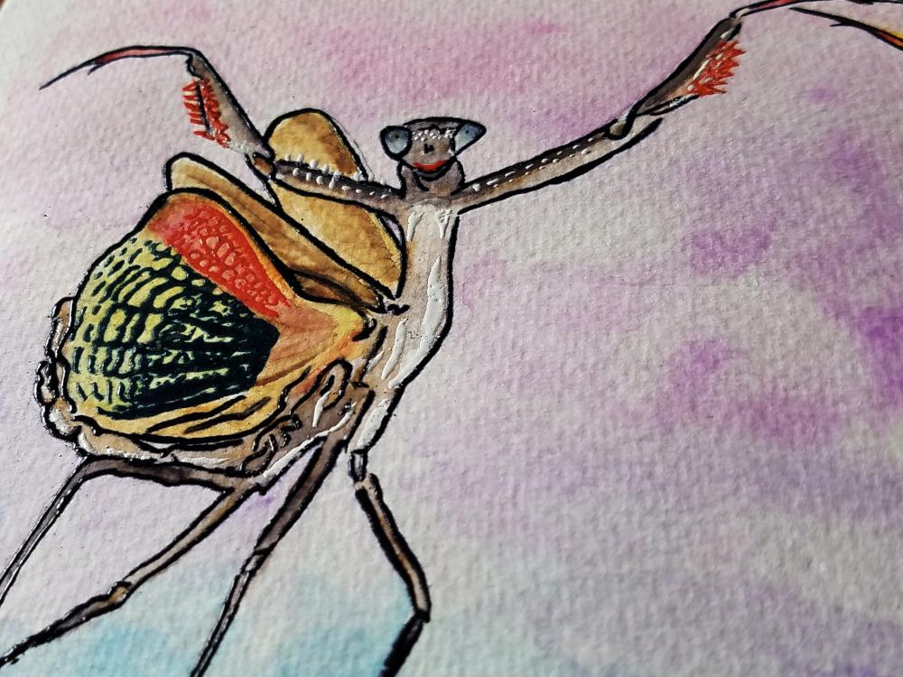 !4embossed mantis watercolor3.jpg
