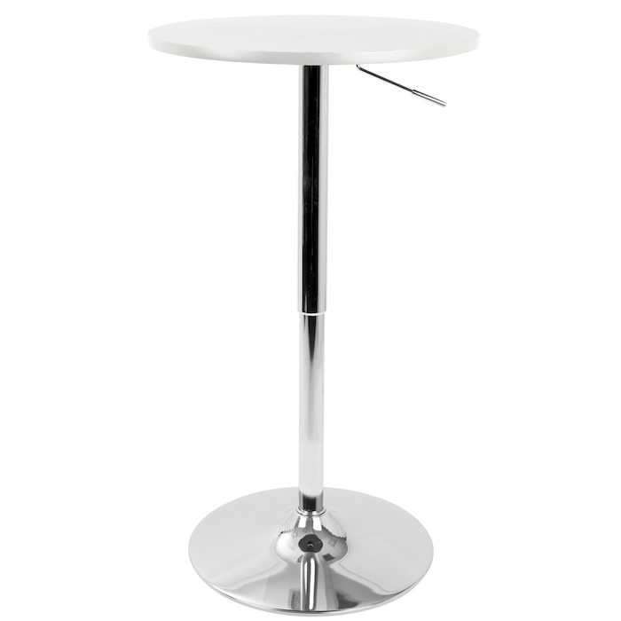 White Top Adjustable Table