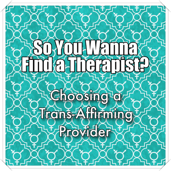"Many transgender and non-binary people seek out therapy to support them in resolving past trauma, improving relationships, addressing symptoms of anxiety or depression, and exploring issues related to gender identity and expression. Unfortunately, trans people may find some therapists to be ill-equipped to address their concerns, and end up discontinuing treatment after attending just a few sessions. This is a common problem for transgender, non-binary and GNC individuals seeking mental health treatment; one study concluded that these negative outcomes are most often the result of limited provider knowledge regarding gender identity and related concerns (Rachlin, 2002). According to another recent study, many transgender individuals who seek out psychotherapy feel discouraged by the need to educate the provider on trans issues (education burdening), the therapist's avoidance of speaking about gender (gender avoidance), or the seeming focus on ""correcting"" their gender identity (gender repairing) (Mizock & Lundquist, 2015).  Many trans people have had negative prior experiences when accessing medical and mental health care, and finding a therapist can feel like a daunting or stressful task.  So, how can you find an affirming therapist or psychiatrist who understands issues of gender identity and how these may interact with other life areas (work, relationships with partners or family members, etc)? Here are a few tips for finding a therapist who is right for you:  1.      Use your network.  Oftentimes, friends or community members have had positive experiences with competent therapists or medical providers and may have recommendations for you. Online forums or groups may be a good starting point for getting suggestions or referrals.  2.      Use websites like    Good Therapy    and    Psychology Today   that feature a large database of therapists. Use the advanced or keyword search to narrow things down and then read through therapist profiles. If you are using insurance, be sure to include it in your search parameters.  Cross reference therapists' profiles  on these sites by checking reviews (websites like  Zocdoc  or  Healthgrades  may come in handy) and visiting their own website so you can make a more informed decision. Does the therapist say explicitly that they have experience working with transgender/non-binary/GNC clients?  3.      Ask for a brief phone consultation with the therapist.  Most therapists are willing to do phone consults so you can get a sense of their theoretical approach and experience. Have they, now or in the past, sought out specialized supervision or consultation related to working with trans and gender-diverse clients? Do they currently have any trans/GNC/non-binary clients?  4.      Schedule an initial appointment . How does it feel to be in the therapist's office? Did they seem comfortable speaking about issues of gender identity and any other concerns you want to address? Are they open to feedback?  5.      Assess ""goodness of fit.""  If it felt relatively easy to share your concerns with the therapist, they listened empathetically and have experience working with trans clients, you may want to schedule 2-3 more sessions to determine whether it is a good long-term fit.  6.      If you need a letter of support to access gender-affirming surgery,  ask about this up front – does the therapist have experience in writing letters of this type? What are their policies about the number of visits or length of time in treatment before they feel comfortable writing a letter? Make sure you also request any requirements for letters of support from your surgeon and bring them to your session.  7.      Have coverage that doesn't include mental health benefits, or no insurance coverage?  You may be able to explore sliding scale fees with qualified therapists. Many therapists do offer reduced fee sessions, but these may only be offered during less busy times of the day, such as the late morning or early afternoon. Another option might be to see a therapist at an LGBT health center, community clinic, or psychotherapy institute.  8.      Still nervous about that first session?  Bring a trusted friend or family member with you for the first appointment.  9.      If you live in a rural area,  consider non-traditional methods such as telehealth (phone or video) sessions. Not all therapists are able to offer this service, but you may be able to make an arrangement that will work for you. If the therapist is too far away or is not accepting new clients, ask for a referral to a trusted colleague. If you feel that you need immediate peer support,  Trans Lifeline  may be a good resource.  10.   Having trouble finding local therapists?  If you are under the age of 24, you can talk text, or chat with operators at  The Trevor Project,  who may be able to help you connect with resources near you. For both youth and adults, call  The National Alliance on Mental Illness (NAMI)  national helpline, 1800-950-NAMI, or email info@nami.org to request information and resources.  Sometimes finding the right therapist can feel overwhelming and take some time. Doing your research, asking some basic questions, trusting your instincts, and taking some time to get to know potential new therapists can make all the difference in the quality of trans-affirming therapy you receive. Good luck!  At G&STC we understand how hard it can be to find a therapist that works for you. We also understand that you shouldn't have to educate your therapist on basic competency or manage stigma, discrimination or microaggressions in a therapeutic space. Please  contact us  to schedule an intitial phone consultation and session!   Blog authors all hold positions at the Gender & Sexuality Therapy Collective (G&STC). For more information about our  therapists  and services please  contact us ."