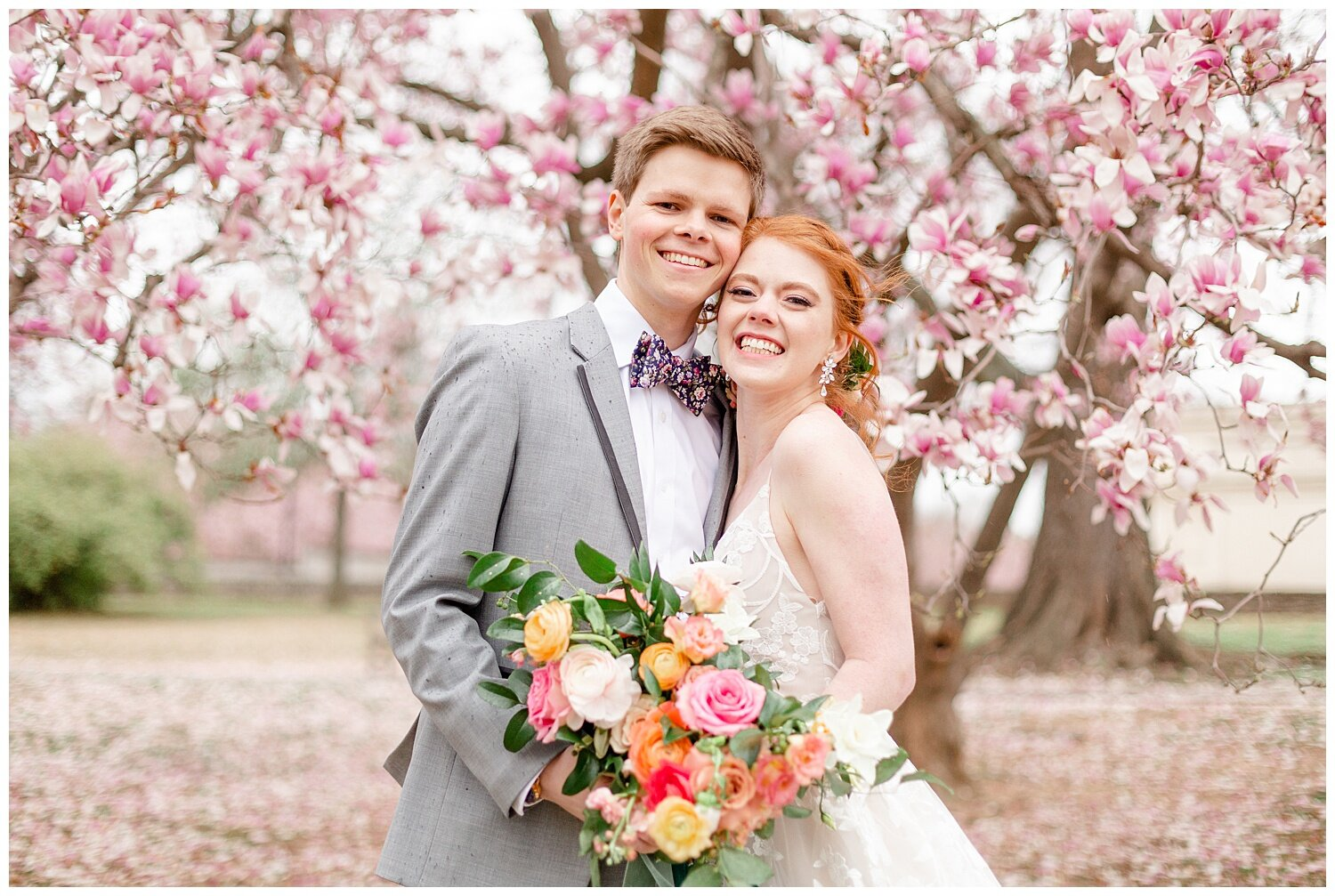 spring wedding pictures tulip trees