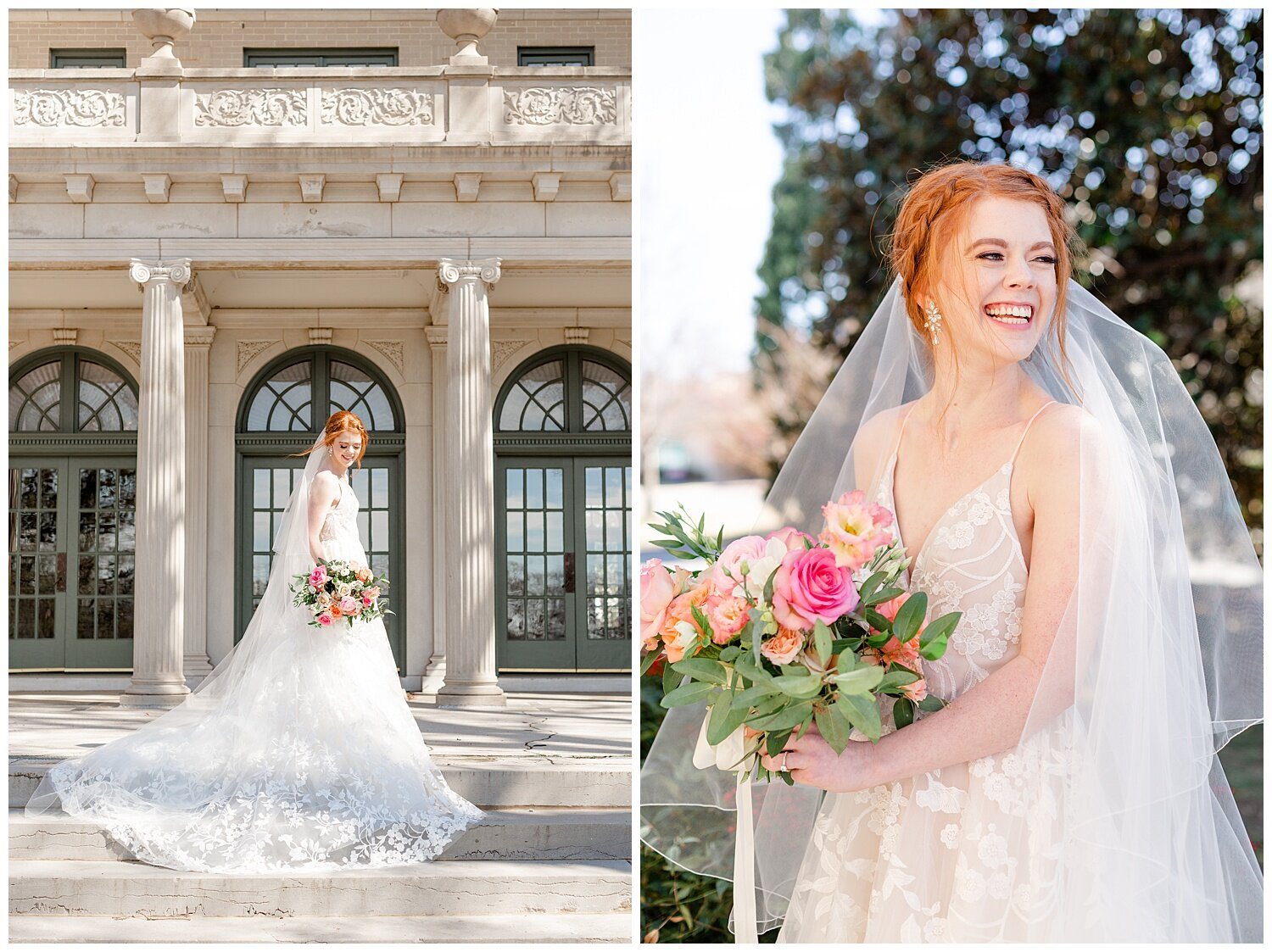 mansion at woodward park bridal pictures