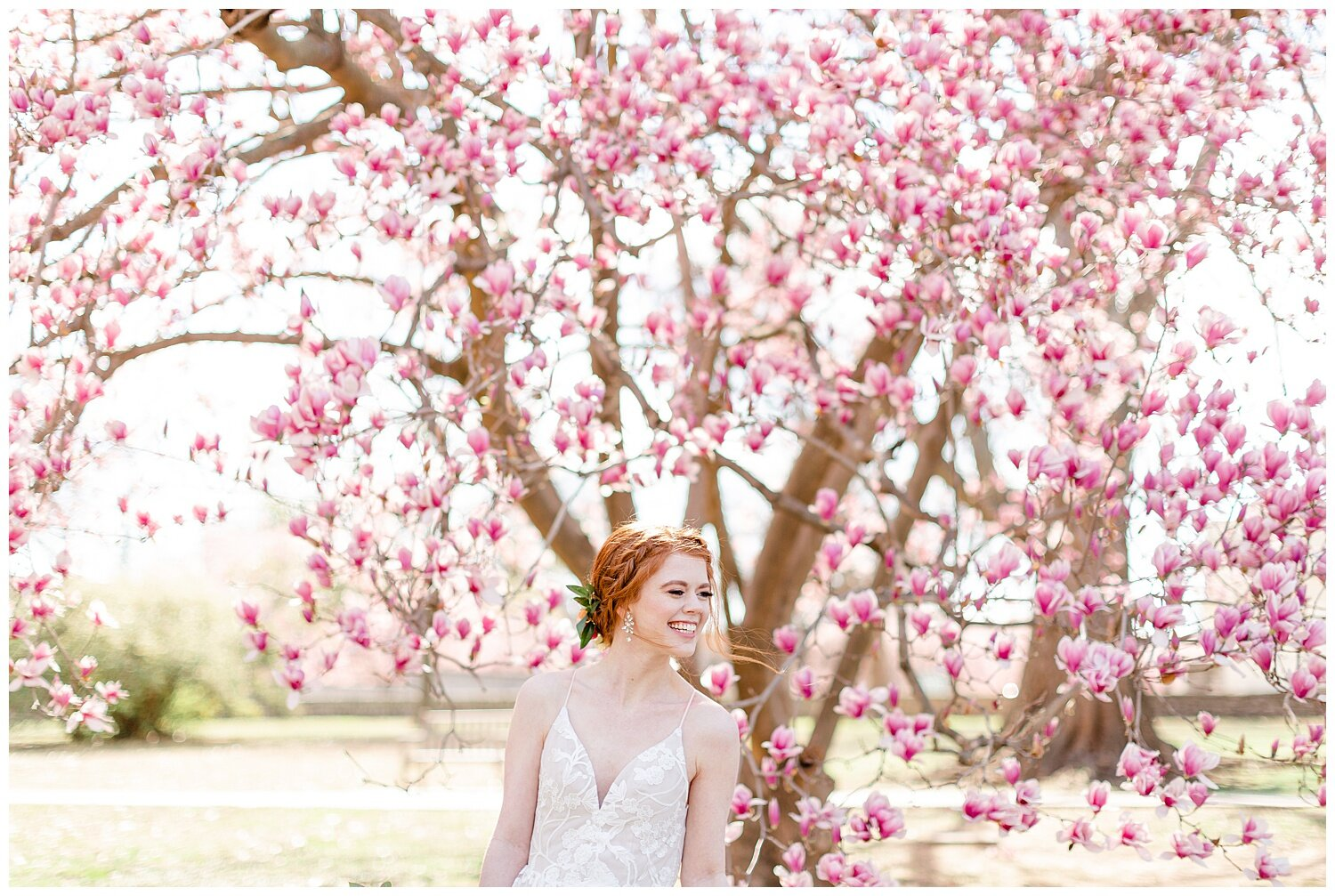 spring trees wedding pictures