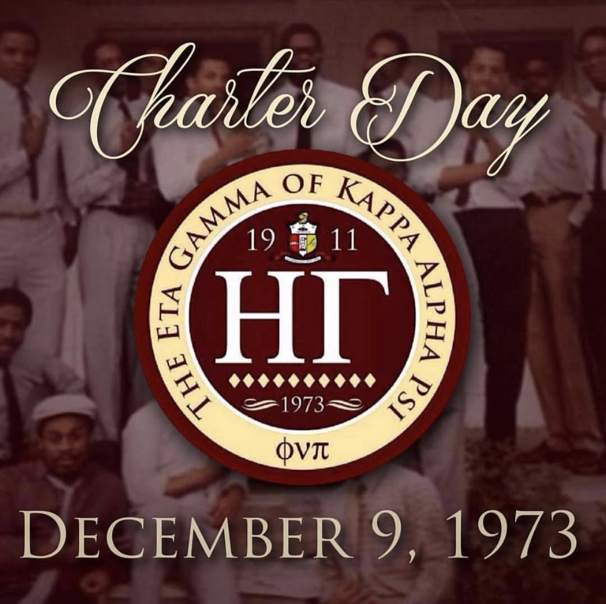Eta Gamma Charter Day - December 9, 1973