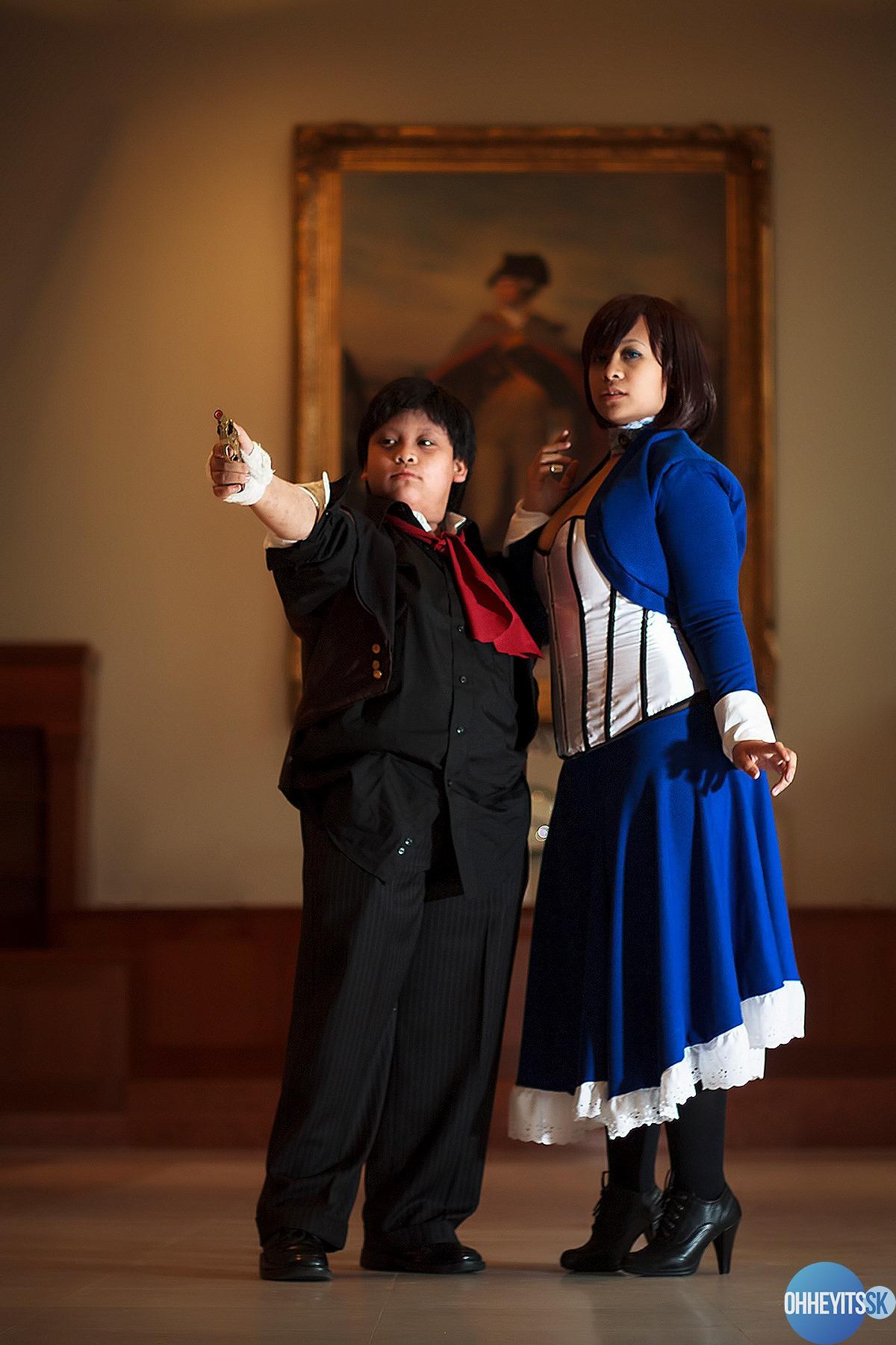 Elizabeth & Booker (worn by my brother!) (Bioshock: Infinite) photo: Some Kid / Trevor Tomlinson