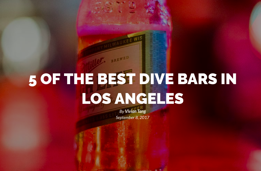 5 BEST DIVE BARS IN LOS ANGELES