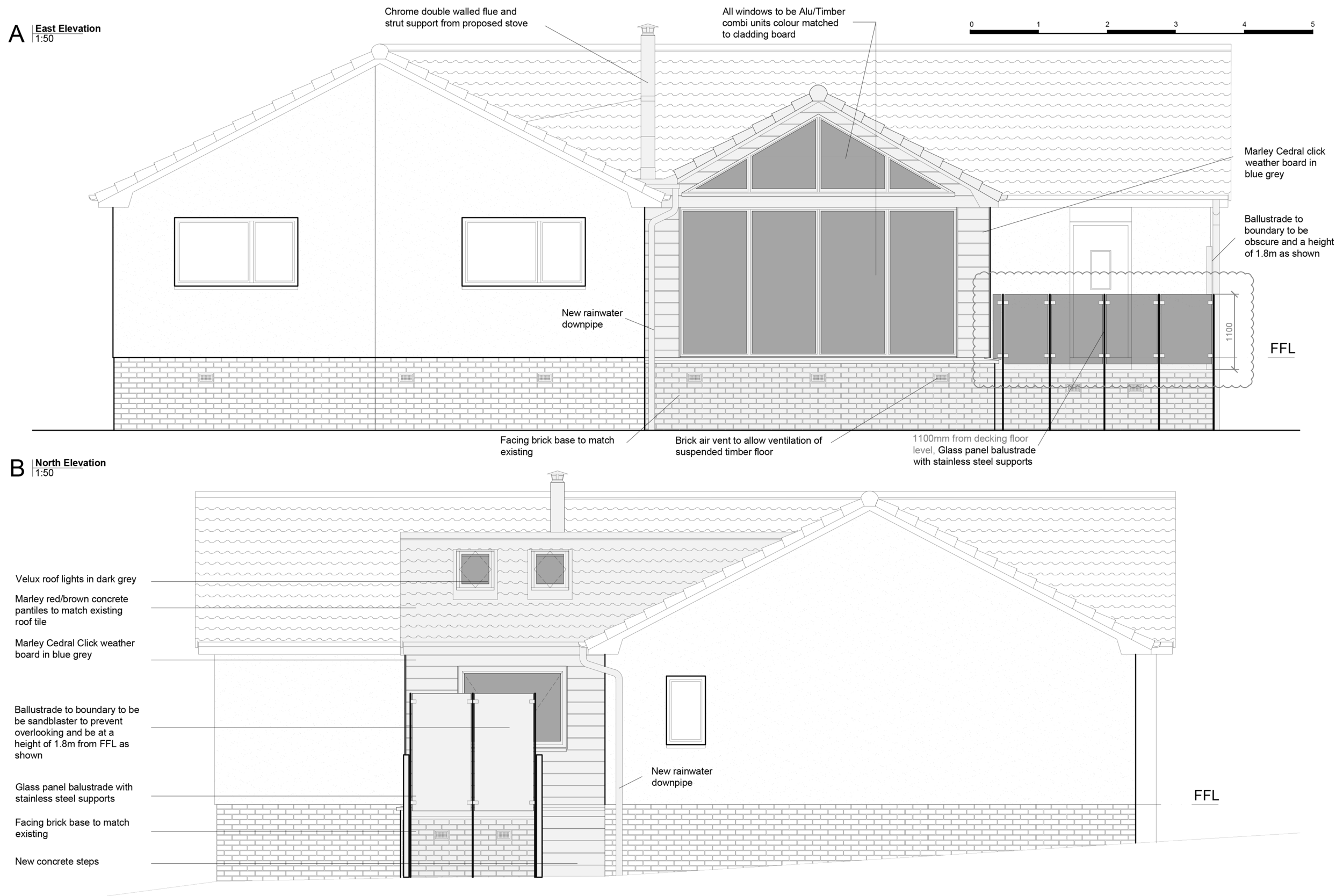Proposed Elevations as part of Building Warrant package