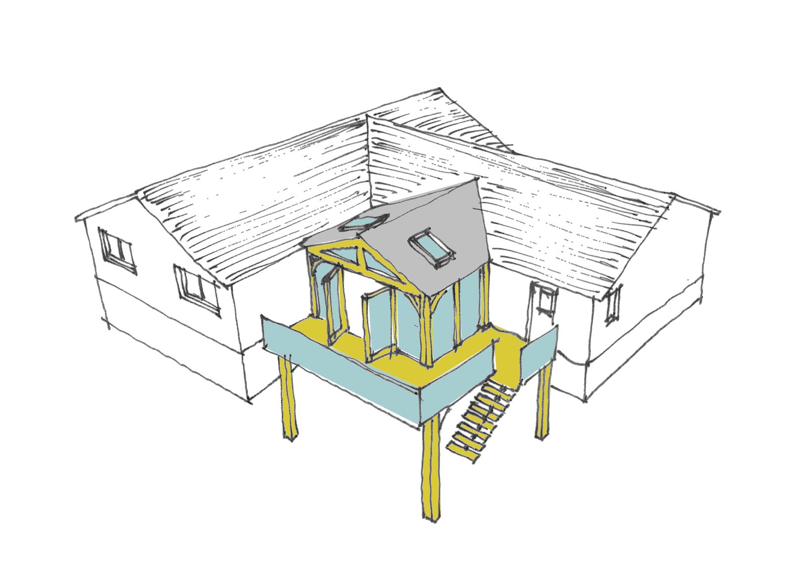 'Oak' extension - part of the feasibility design option