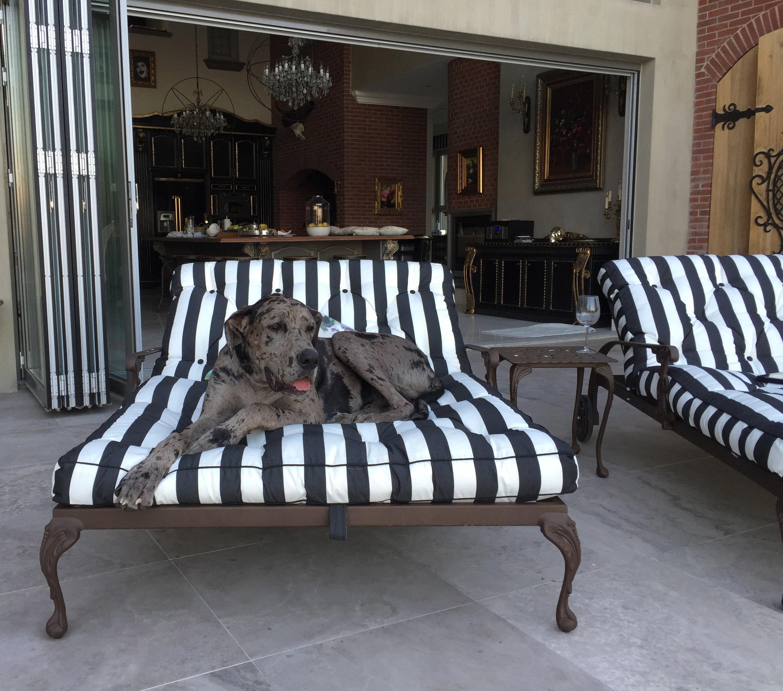 St tropez double sun lounger / chaise