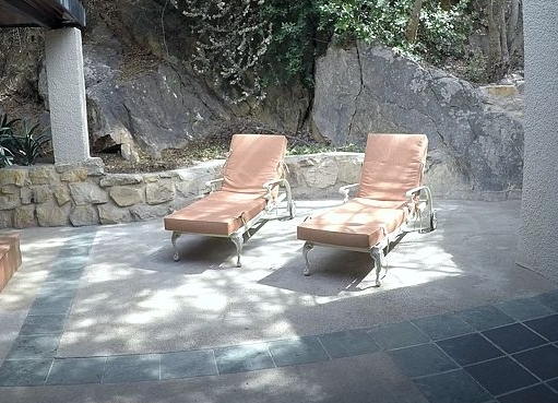 St Tropez sun loungers with solid foam