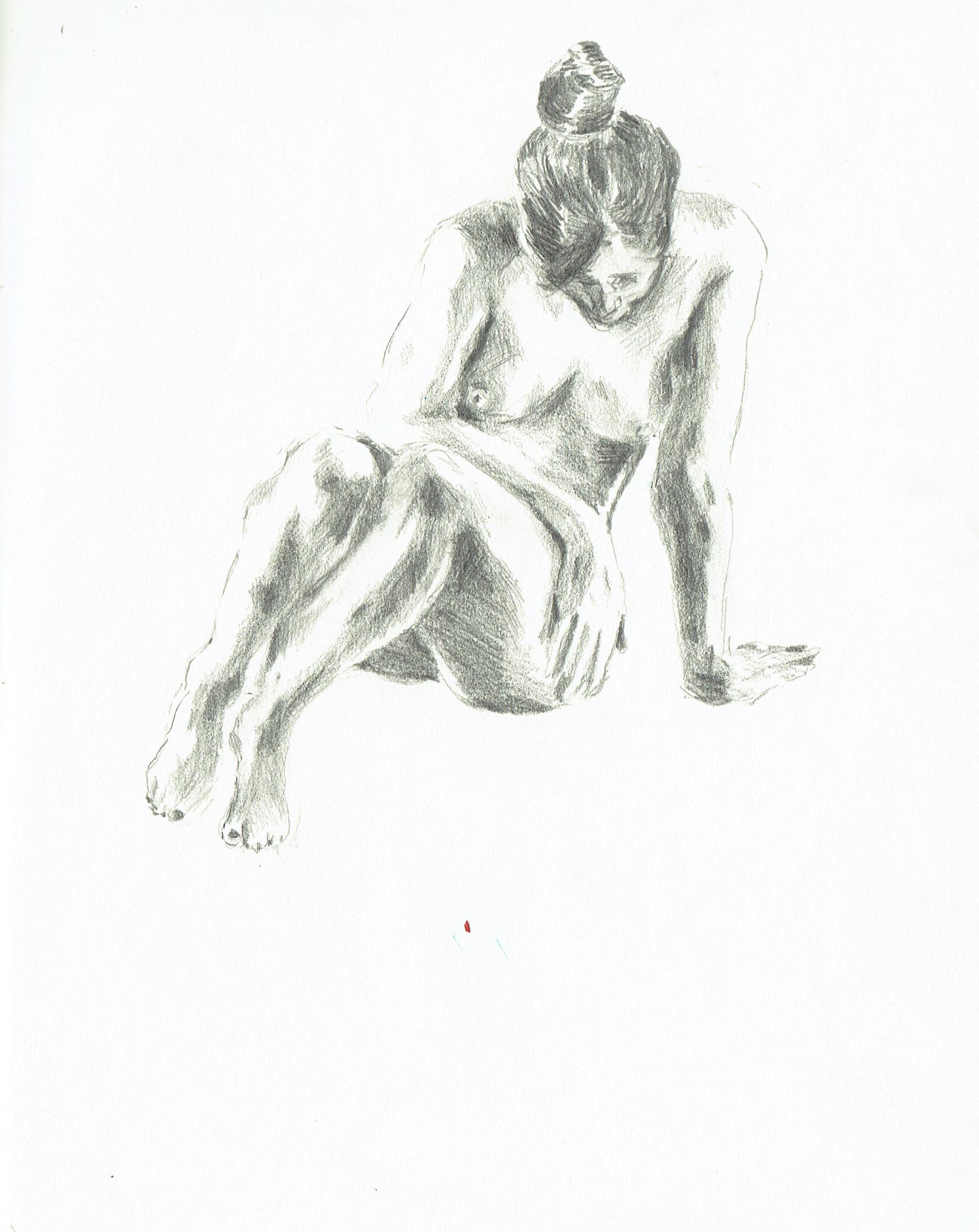 - graphite on paper,2017