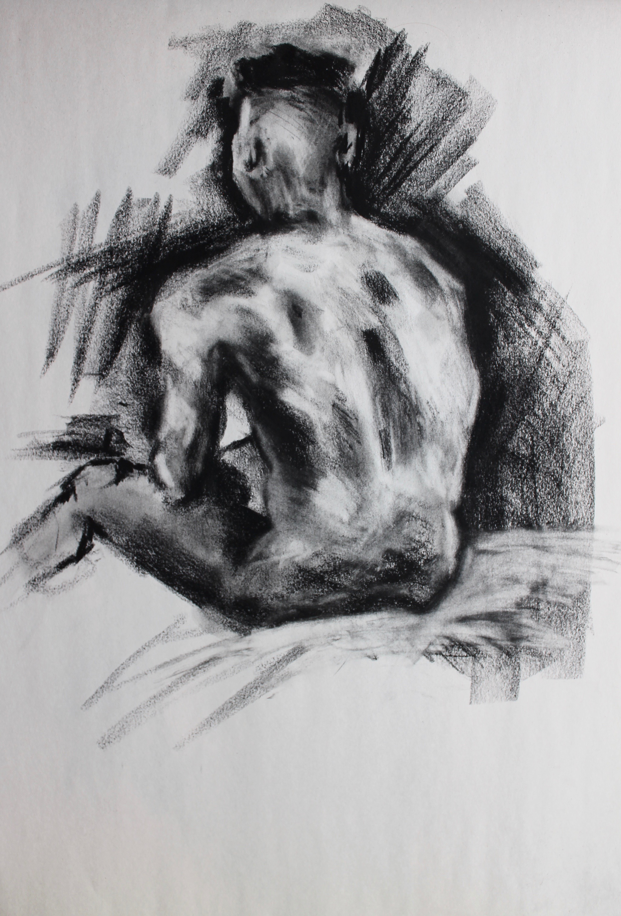 - compressed charcoal on newsprint,2017