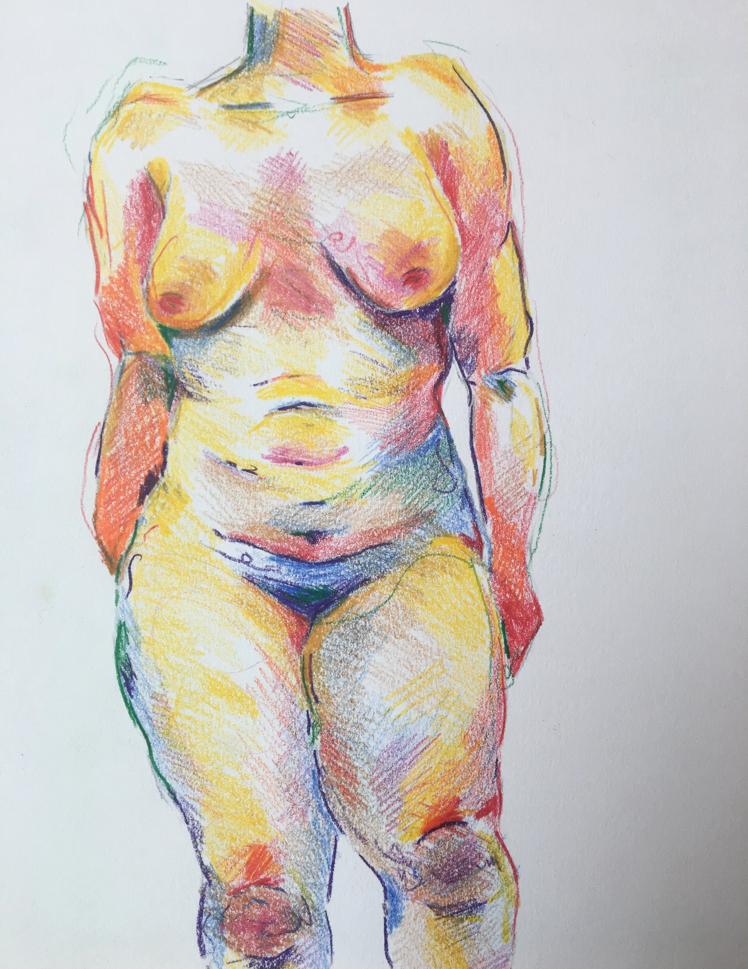 - color studycolored pencil on paper,2016