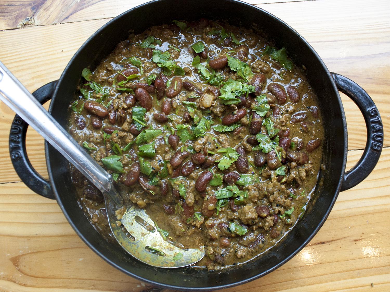 lamb bean stew -