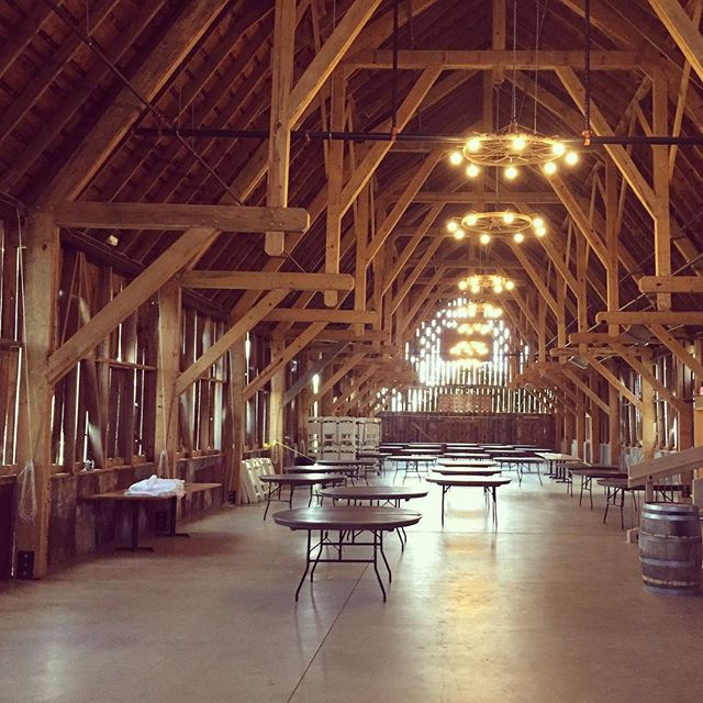 Fantastic barn/ event venue near Charlevoix, Michigan -- inspiration for a new design project we are starting in the Texas Hill Country.