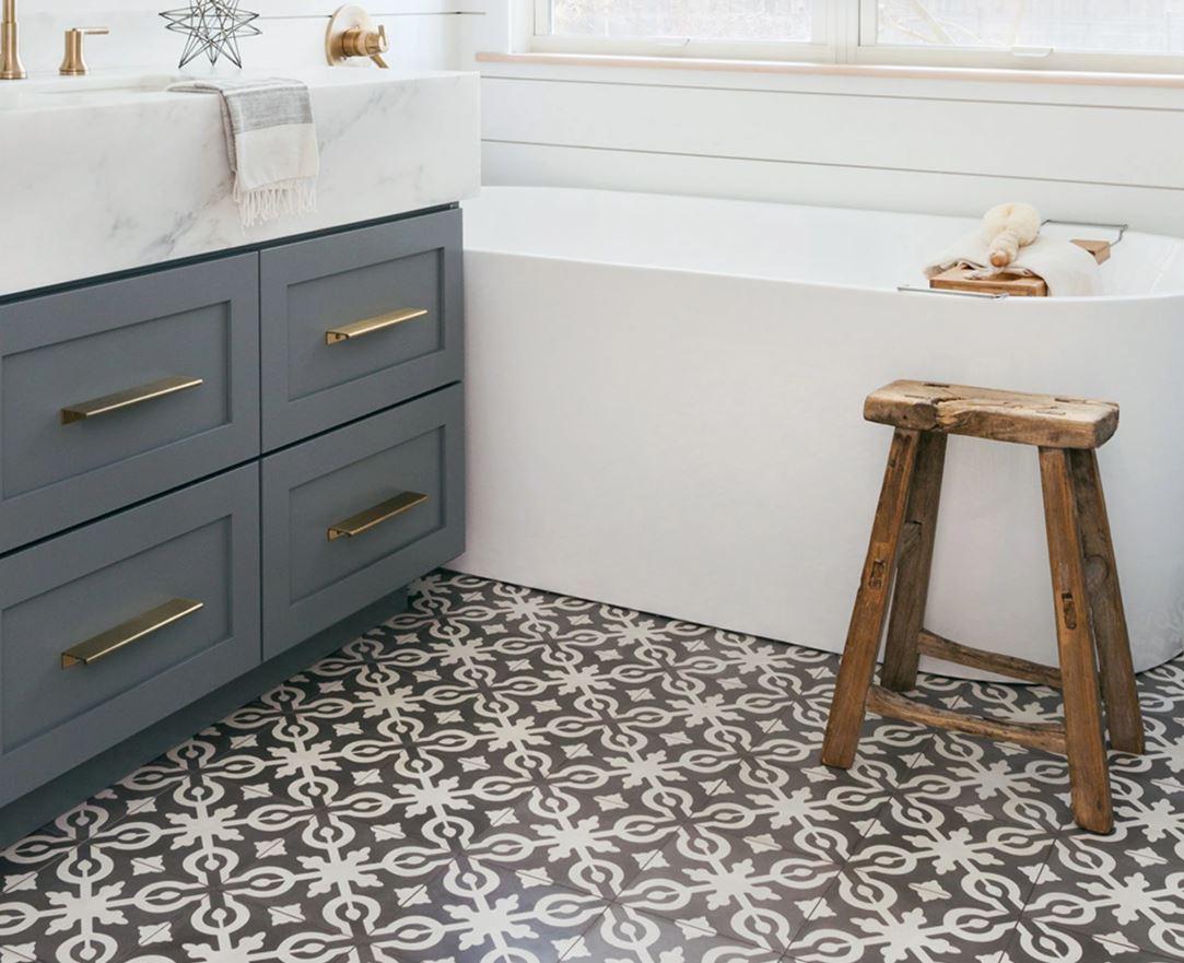 "Remy 8"" x 8"" Floor & Wall Tile in Soffia - Bedrosians.com"
