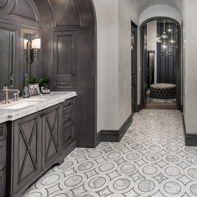 Highland Emberglow Deux Marble Tile - Tilebar.com (Fratantoni Interior Designers)