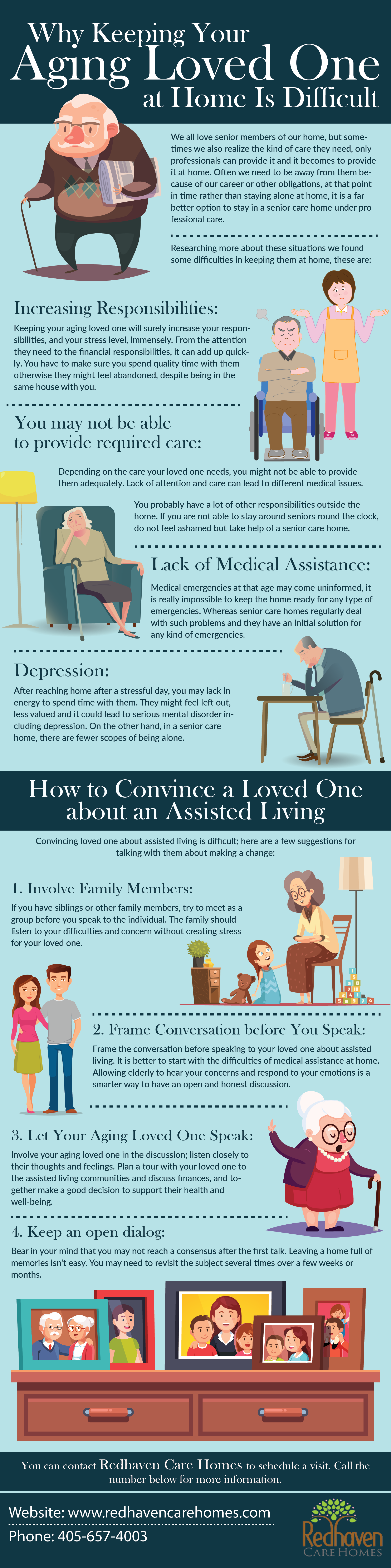 Why Keeping Your Aging Loved One at Home is Difficult