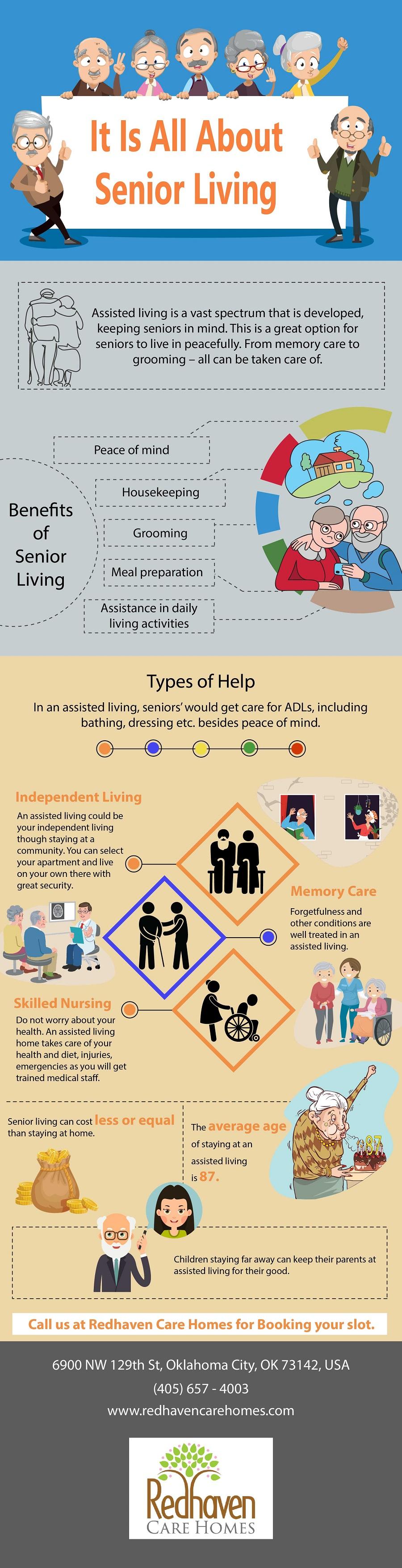 senior living infographic