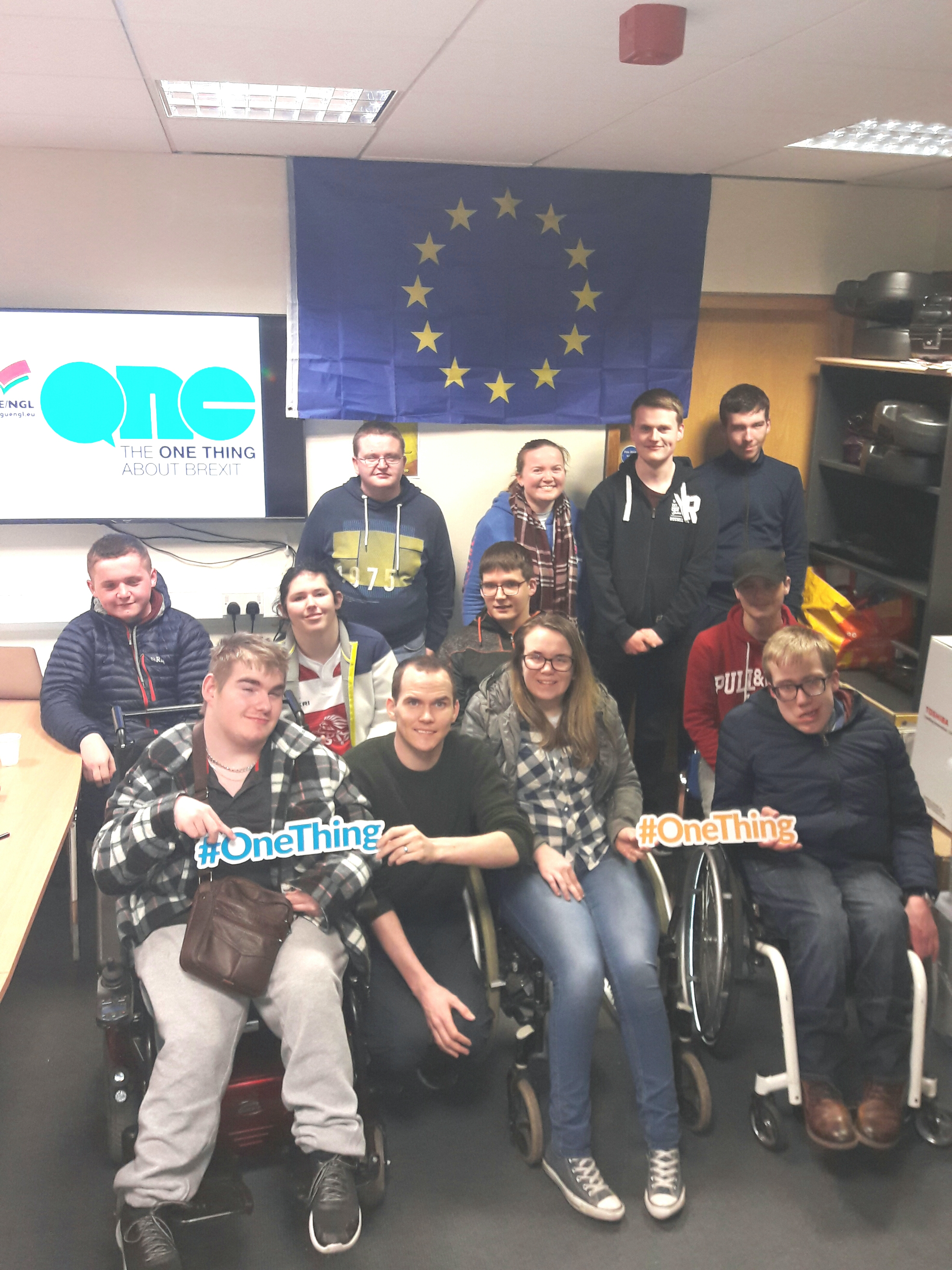 Our group of young people getting involved in the #OneThingAboutBrexit campaign