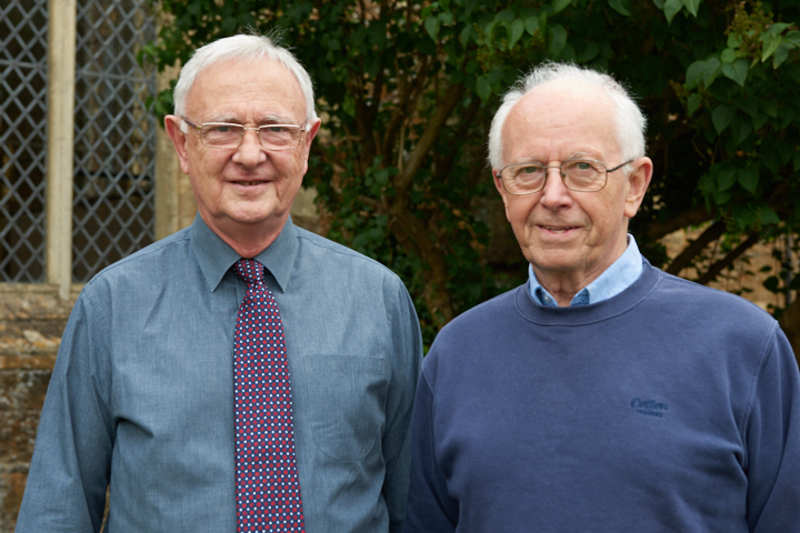 Tony and George - two Honorary Friends of the choir