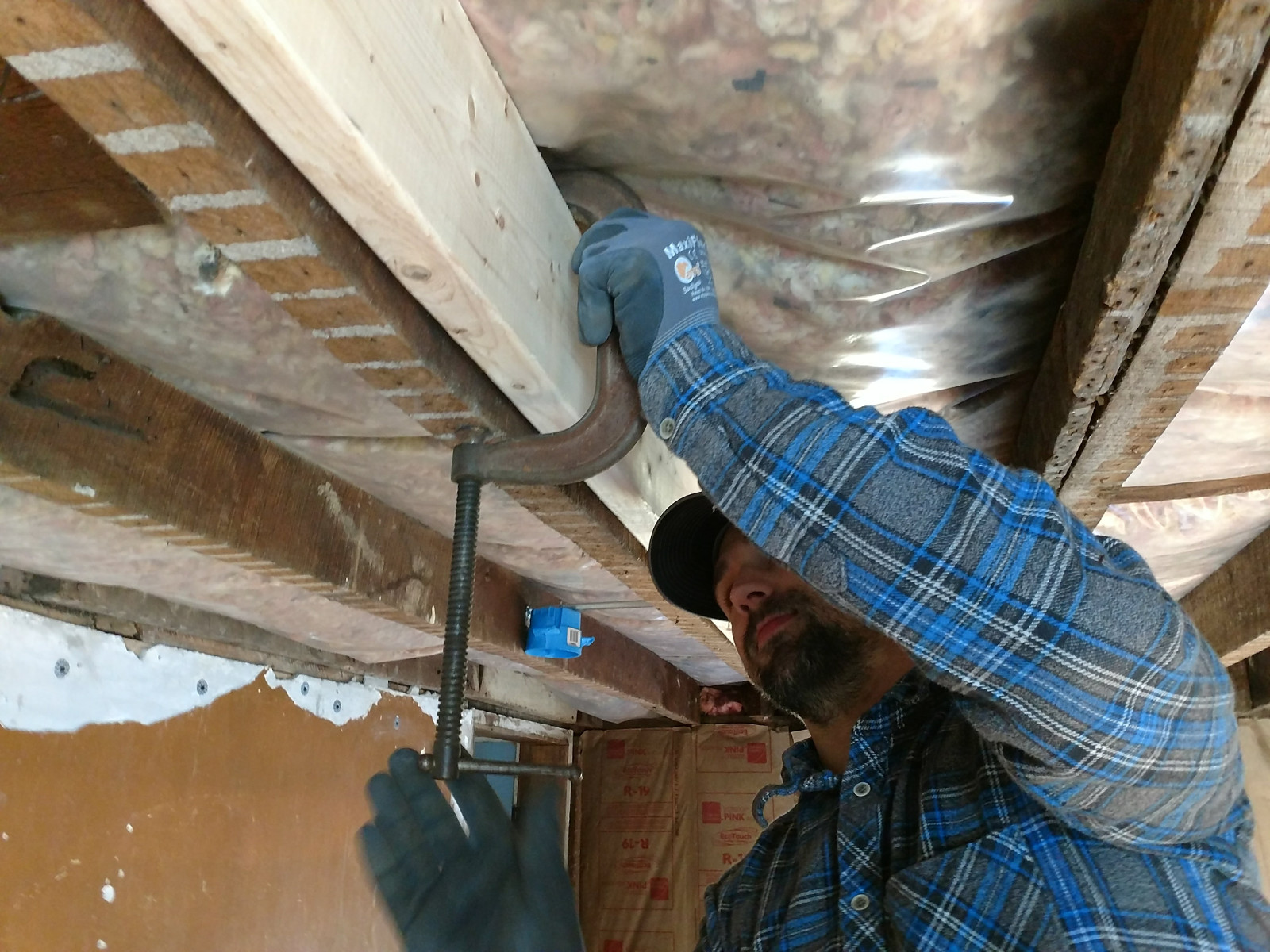 Nothing says fun like sawing through your ceiling joists.