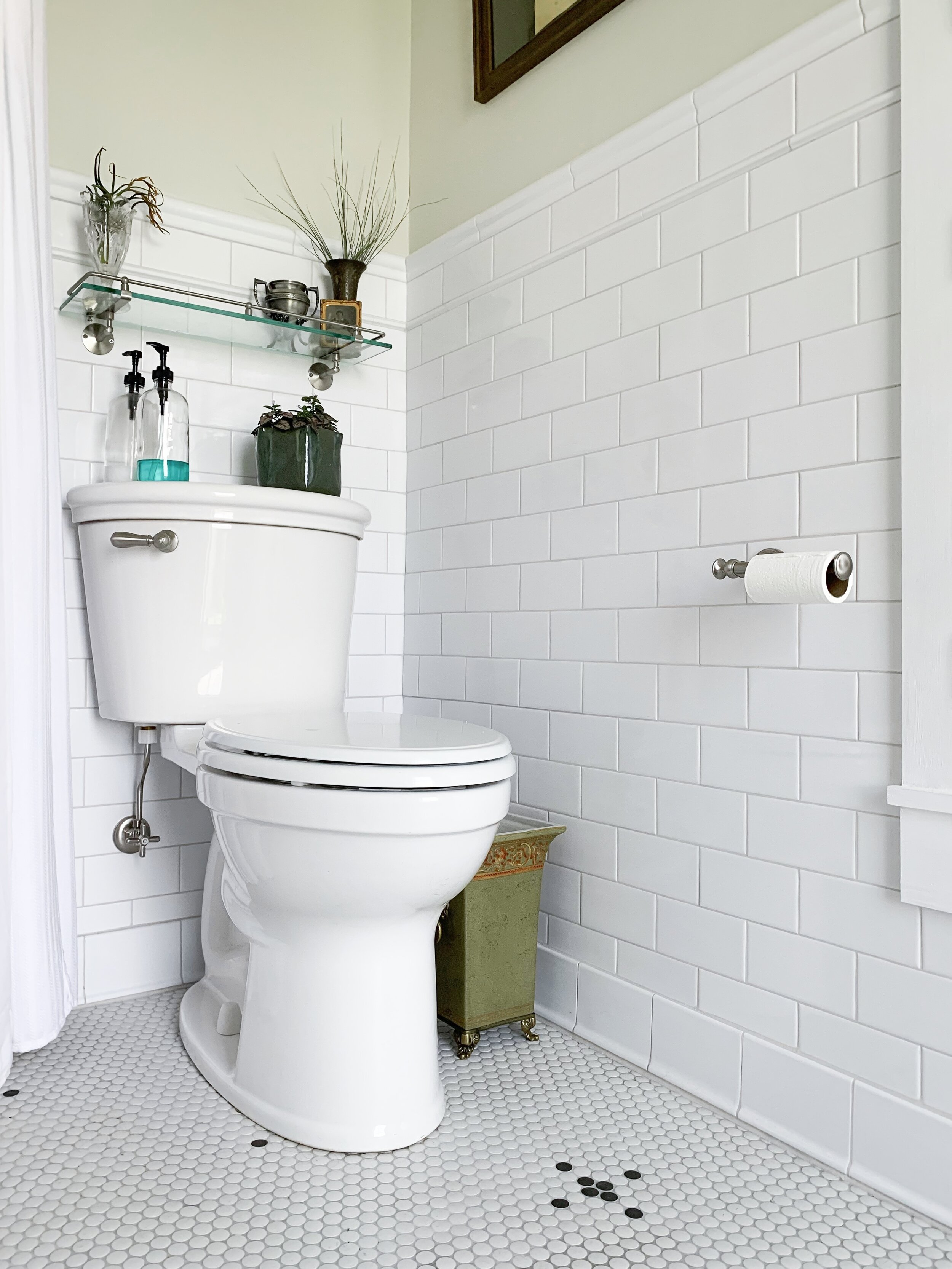 Toilet  |  Toilet Seat  |  Handle  |  Water Shut Off  |  Toilet Paper Holder